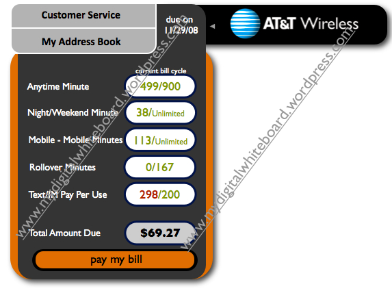 click on the at&t logo & explore the widget!
