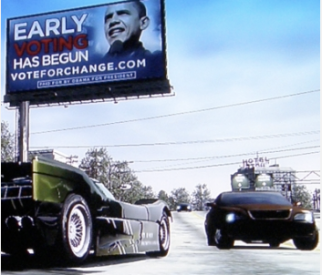Obama campaign ad in Burnout Paradise, a racing title for the XBOX 360. There you have it, folks: video games can put you in the White House.