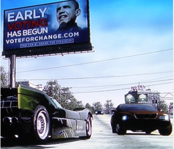 "Barack Obama billiboard on EA's ""Burnout Paradise"" on Xbox 360"