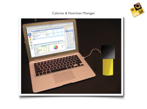 Representation drawing for 'Calorie & Nutrition Manager'
